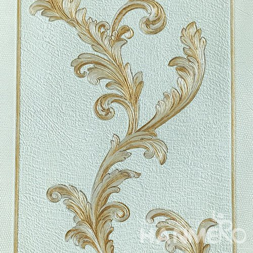 HANMERO Brand New Italian Design European PVC Embossed Blue Floral Home Wallpaper