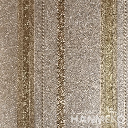 HANMERO Brand New Italian Design European PVC Embossed Brown Stripes Home Wallpaper
