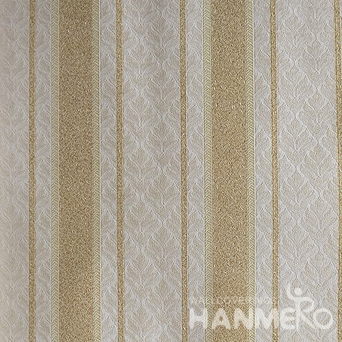 HANMERO Brand New Italian Design European PVC Embossed Yellow Stripes Home Wallpaper