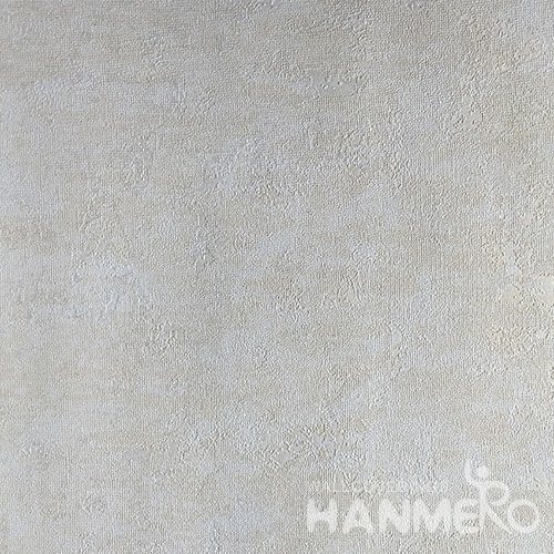 HANMERO Brand New Italian Design Modern PVC Embossed Beige Solid Home Wallpaper