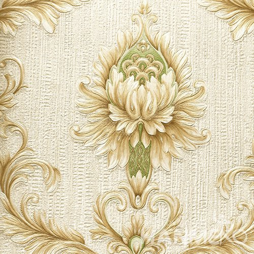 HANMERO Standard PVC Material European Style  0.53*10M/Roll Yellow And Green Floral Wallpaper For Room
