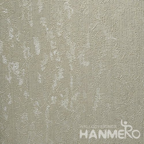 HANMERO Standard PVC Material Modern Style  0.53*10M/Roll Green Solid Wallpaper For Room