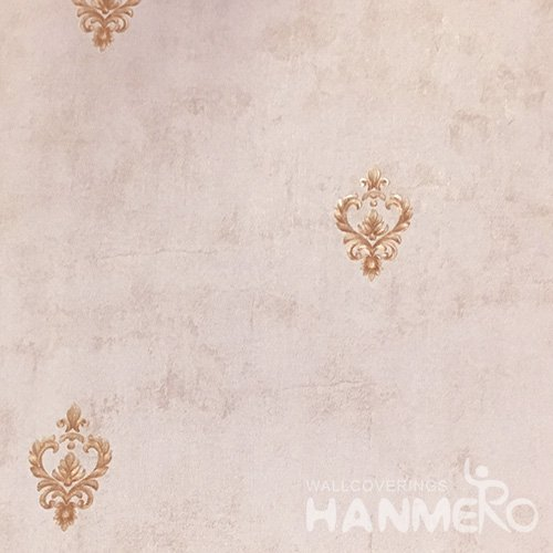 HANMERO 0.53*10M/Roll European PVC Embossed Wallpaper With Pink Floral For Wall