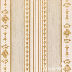 HANMERO 0.53*10M/Roll European PVC Embossed Wallpaper With Yellow Stripes For Wall