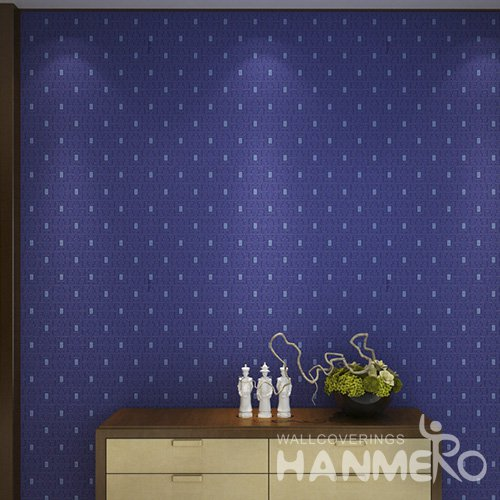HANMERO Embossed Modern Geometric Blue PVC Wallpaper For Home Interior Decoration