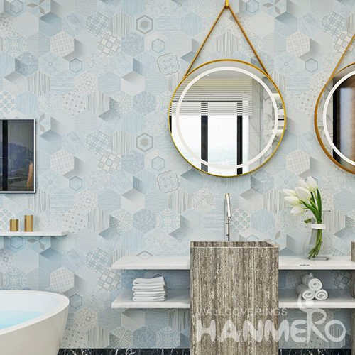 HANMERO Factory Sell Directlly Modern Geometric 3D PVC 1.06m Wallpaper