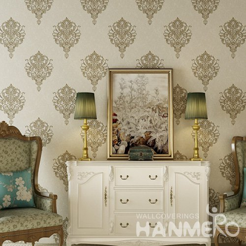 HANMERO Decorative European Floral Eco-Friendly Vinyl 1.06m Wallpaper