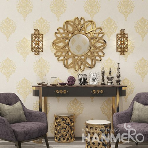 HANMERO European 1.06m Floral PVC Wallpaper Distributor From China