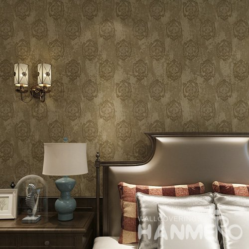 HANMERO European PVC Embossed Wallpaper With Size 1.06*15.6m For Wall Decor