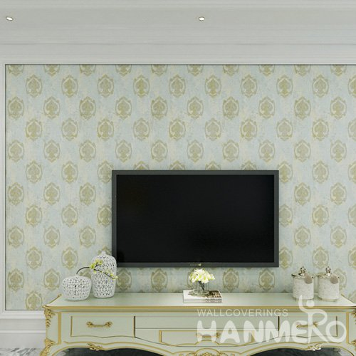 HANMERO Top Grade European Floral Living Room Vinyl 1.06M Wallpaper From China
