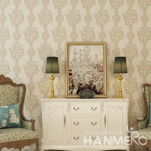HANMERO Brown 1.06*15M Floral Affordable PVC European Wallpaper Manufacturer