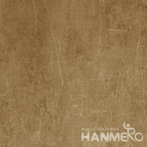 HANMERO Solid Brown Color Modern Vinyl 1.06m Interior Wallpaper For Wall