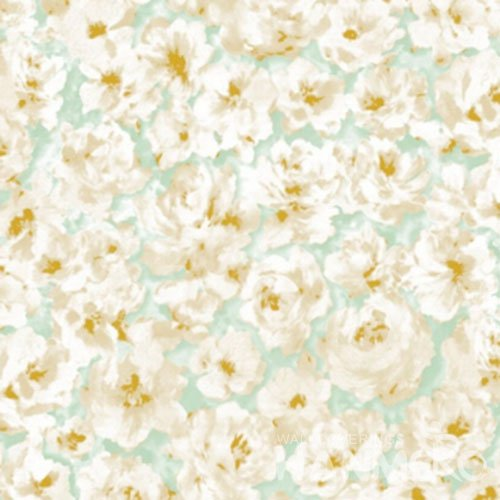 HANMERO Pastoral Flowers PVC Wallpaper With Embossed In 1.06m Size From China