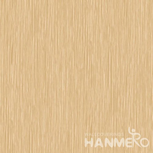 HANMERO Solid Light Brown Modern Simple 1.06m Wide PVC Wallpaper With SGS